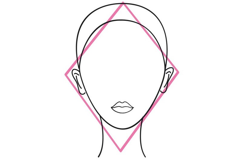 Diamond shaped face outline