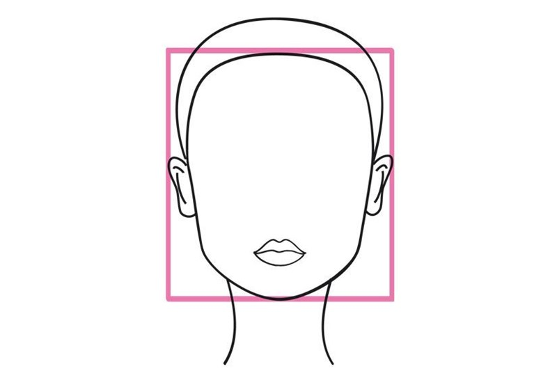Square shaped face outline