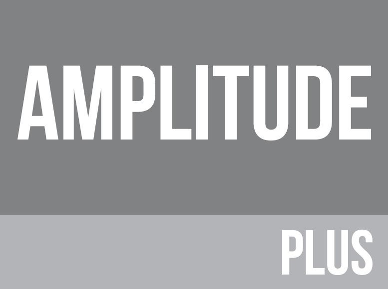 Grey Amplitude plus logo