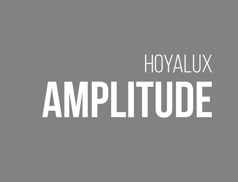 Grey background with Hoyalux Amplitude written in white