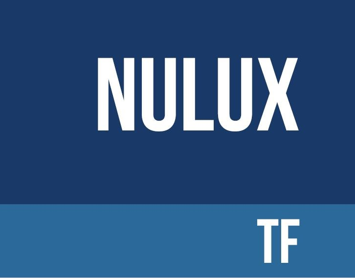 Navy background with nulux TF written in white
