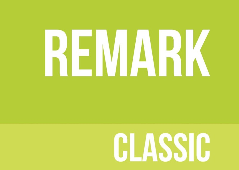 Lime green background with remark classic written in white
