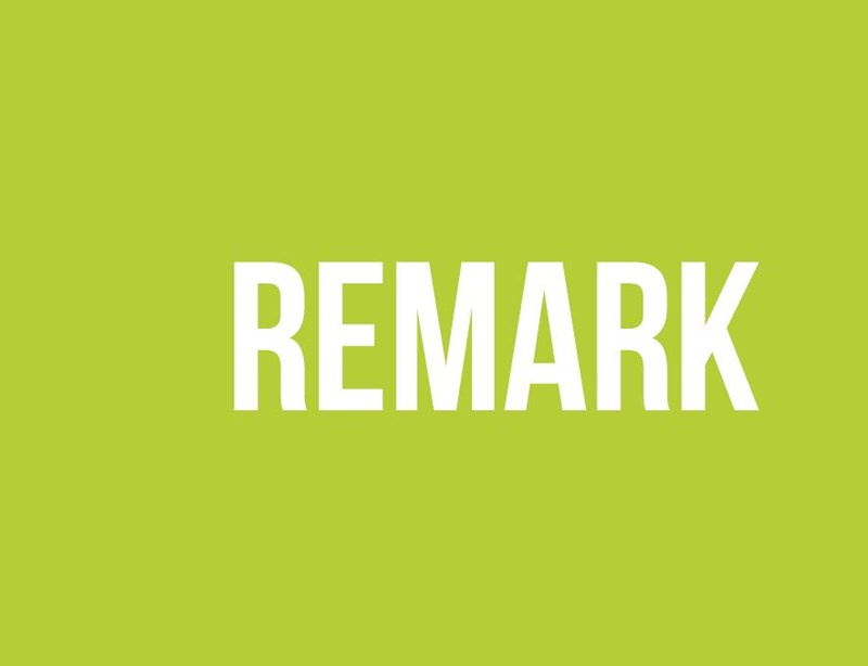 Lime green background with remark written in white