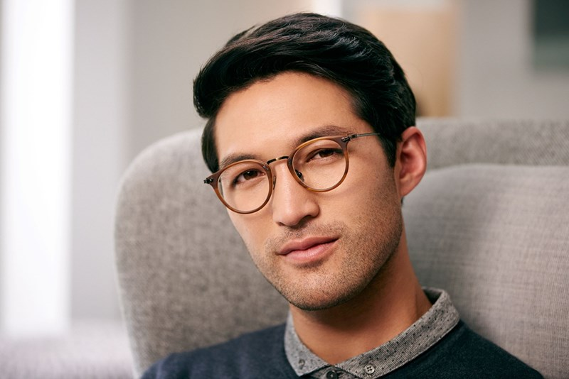 Male wearing eyeglasses